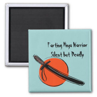Farting Ninja Warrior Silent but Deadly Magnet