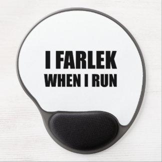 Fartlek When Run Black Gel Mouse Pad