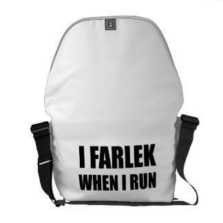Fartlek When Run Black Messenger Bag