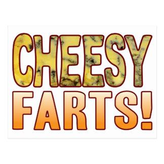 Farts Blue Cheesy Postcard
