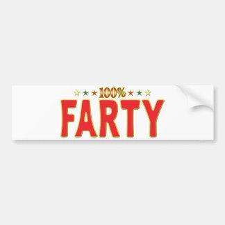 Farty Star Tag Bumper Stickers