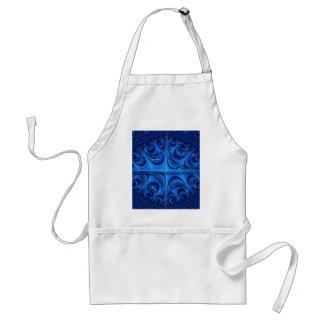 fascinating spiritual ice blue apron