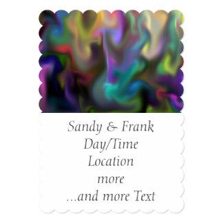 fascination fluid, multicolor card