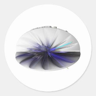 fascinator accesories round sticker
