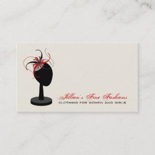 Clothing store business cards zazzle au fascinator hat stand clothing store boutique business card reheart Choice Image