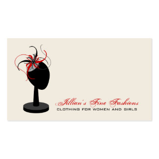 Fascinator Hat Stand Clothing Store Boutique Pack Of Standard Business Cards