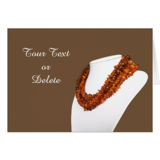 Fashion amber necklaces card