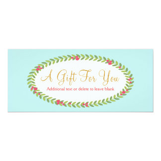 Fashion and Beauty Holiday Gift Certificate 10 Cm X 24 Cm Invitation Card