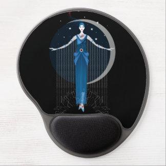 Fashion art deco elegant stylish illustration gel mouse pad