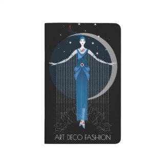 Fashion art deco elegant stylish illustration journals
