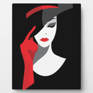 Fashion art deco elegant stylish illustration plaque