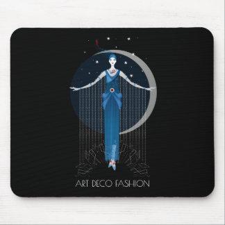 Fashion art deco stylish illustration pattern mouse pad