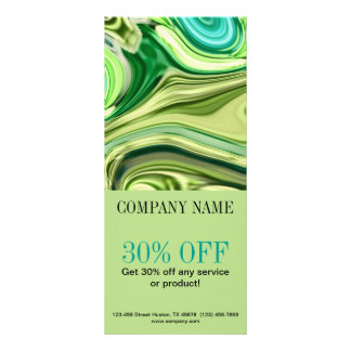 fashion beauty hair nail salon lime green swirls full color rack card