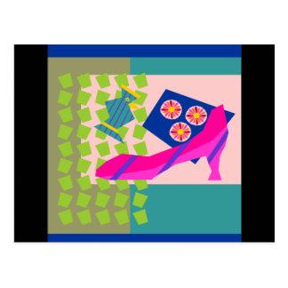 Fashion Bird with High Heel Postcard
