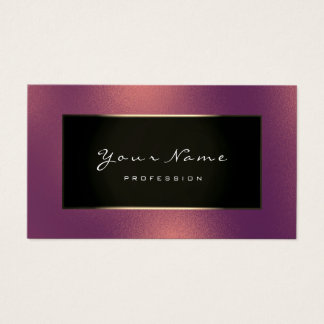 Fashion Blogger Champagne Gold Red Bean Frozen Business Card