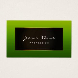 Fashion Blogger Framed Black Frame Moss Woodland Business Card