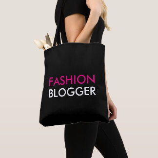 Fashion Blogger Pink and Black Tote Bag