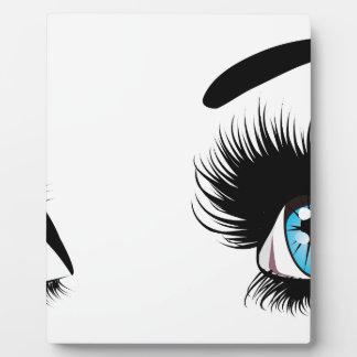 Fashion Blue Eyes Display Plaque