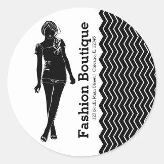 Fashion boutique round sticker