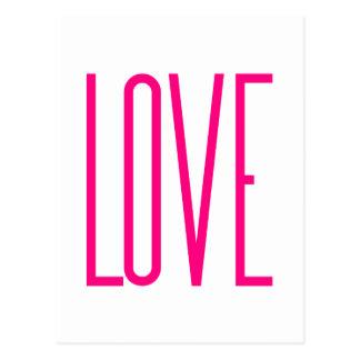 Fashion Bright Pink Love Postcard