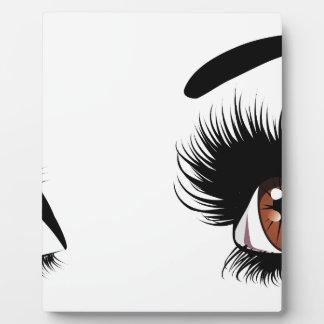 Fashion Brown Eyes Display Plaques