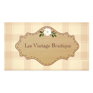 Fashion Business Card Template- Vintage Boutique