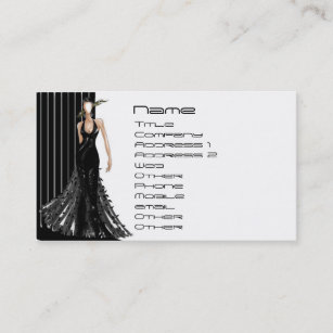 Fashion women model business cards zazzle au fashion business card reheart Gallery