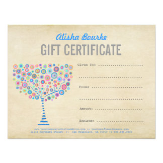Fashion Business Gift Certificate Template Personalised Announcements