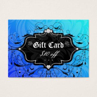 Fashion Chandelier Heart Jewelry Gift Card Blue