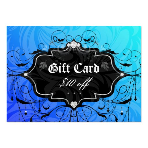 Fashion Chandelier Heart Jewelry Gift Card Blue Business Card