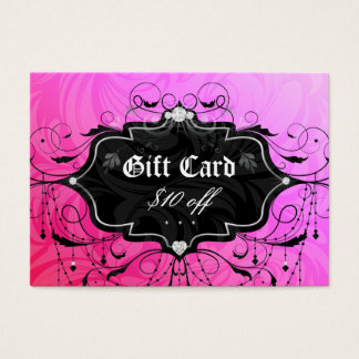 Fashion Chandelier Heart Jewelry Gift Card Pink 3