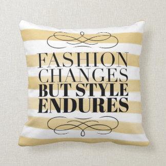 Fashion Changes, Style Endures Throw Pillow