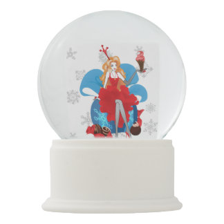 Fashion Christmas stylish red gray illustration Snow Globe