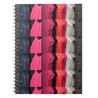 Fashion Colorful pattern print template add text Note Books