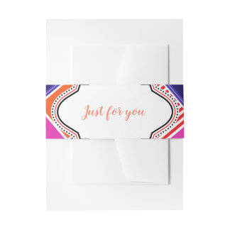 Fashion colors band invitation belly band