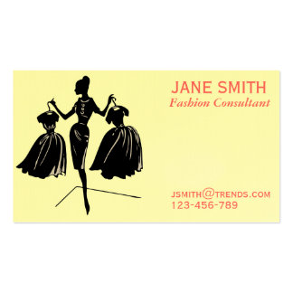 Fashion Consultant freelance professional Business Cards
