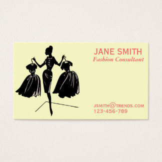 Fashion Consultant freelance professional Business Card