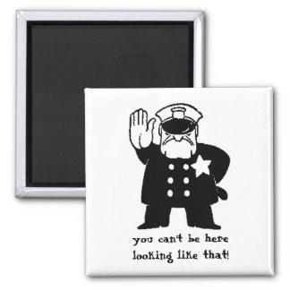 Fashion Cop Square Magnet