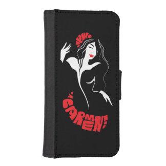 Fashion dancer stylish trendy illustration iPhone SE/5/5s wallet case