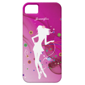 Fashion Dancing Girl with Pink Rhythm Background | iPhone 5 Cover