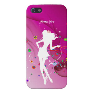 Fashion Dancing Girl with Pink Rhythm Background | Cases For iPhone 5