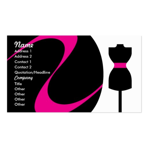 Fashion Design Business Cards