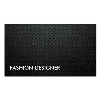 Fashion Designer Black Elegant Professional Simple Business Cards