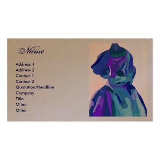 Fashion Designer Blue Dress I Business Cards