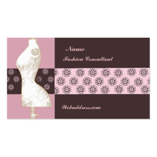 Fashion Designer Consultant Pack Of Standard Business Cards