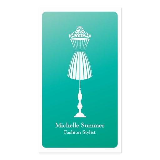 Fashion Designer Dressform Business Card