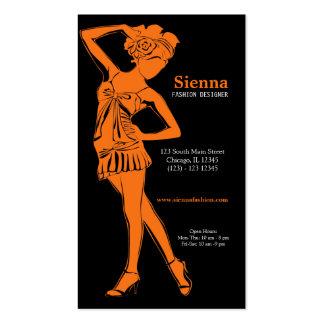 Fashion Designer (Orange) Pack Of Standard Business Cards