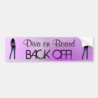 Fashion Diva on Board Back Off Bumper Sticker Bumper Sticker