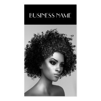 Fashion Elegant Afro Hair Pack Of Standard Business Cards
