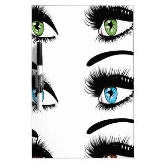 Fashion Eyes in Three Colors Dry-Erase Whiteboards